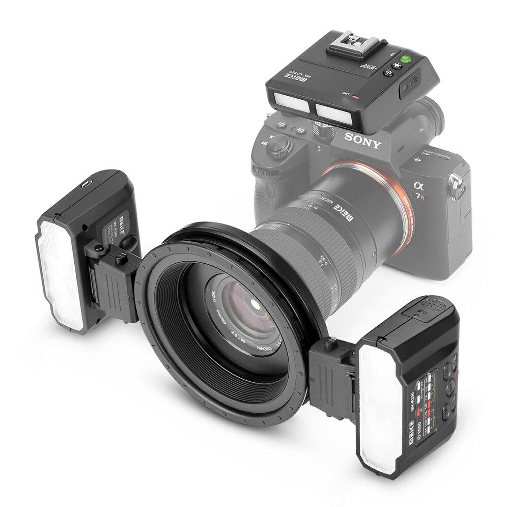 MEKE Meike MK MT24 Macro Twin Lite вспышка для Sony Alpha A7R A7S A7II A7RII A5000 A5100 A6000 A6300 A6500 беззеркальные камеры + подарок