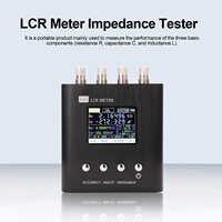 50Hz ~ 300KHz portátil LCR Puente Digital medidor LCR resistencia capacitancia medición herramienta probador