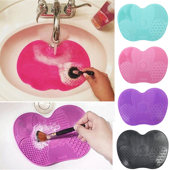 Newest Silicone Brush Cleaner Cosmetic Make Up Washing Brush Gel Cleaning Mat Foundation Makeup Brush Cleaner Pad Scrubbe Board 1