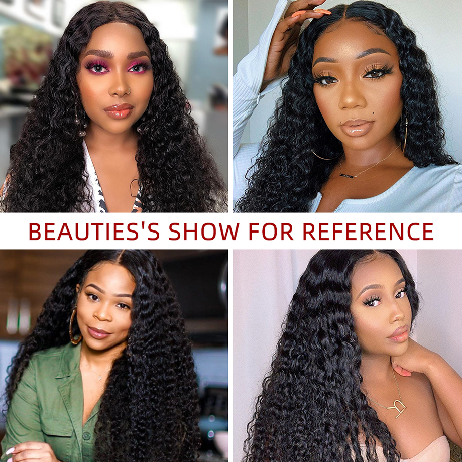 Deep Wave Frontal Wig Curly  Wig   Wigs  Bob 30 Inch Water Wave Lace Front Wig 5
