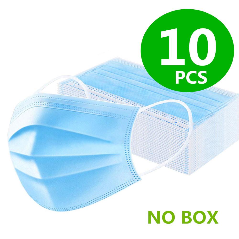 H9881f723040841e7af858db929a20dbd6 100Pcs Medical Surgical Mask Face Mask Anti Dust Mouth Filter Anti Bacterial Disposable Mask 3-Layers Protective Baby Adult Mask
