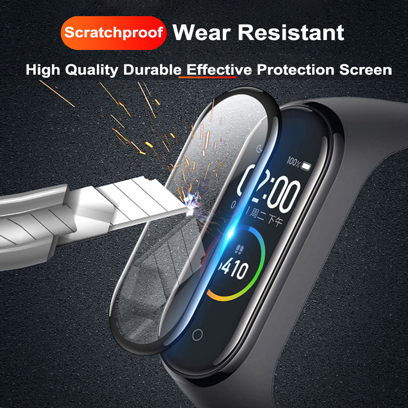 1/2/3/5Pcs 3D Protective Glass for Xiaomi Mi Band 4 5 6 Screen Protector for Miband 5 4 Cover Smart Watchband 4 band5 Soft Film 4