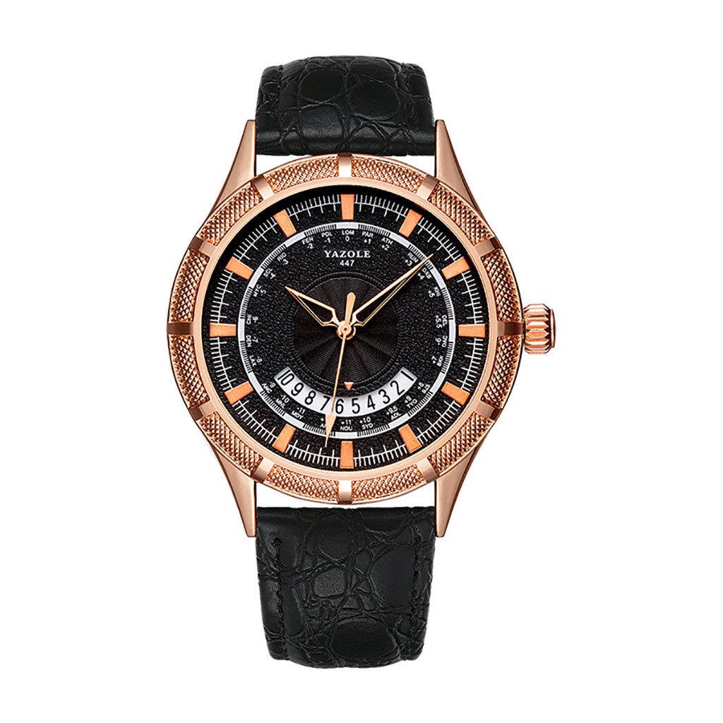 Classic Men Watches Business Big Gear Calendar European And American Style Watches Men Quartz Wrist Clock Reloj Hombre homme
