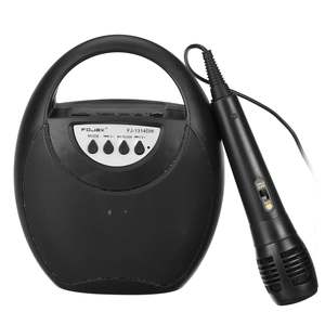 Bluetooth alto-falante com microfone portátil sem fio recarregável áudio festa karaoke máquina suporta tf cartão usb fm aux