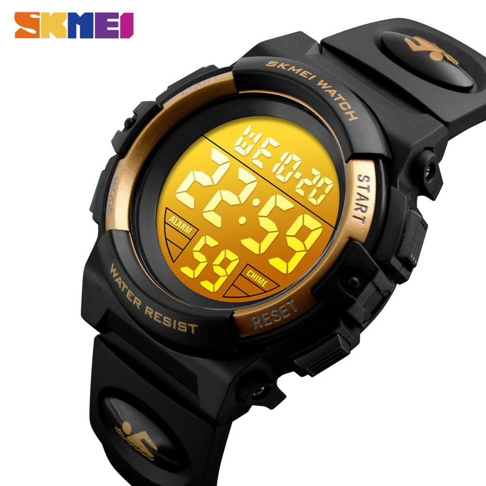SKMEI 50M Waterproof Wristwatches Kids Digital Watch Alarm Calendar Chronograph Sport Watches For Children Boys Girls 1266 Clock