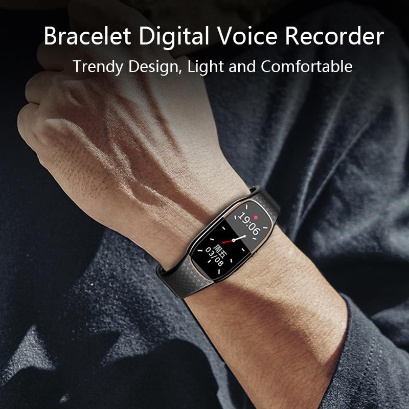 Цифровой диктофон, часы с записью звука, Hi-Fi портативный HD аудио MP3 музыкальный плеер