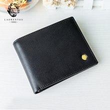 LAORENTOU – portefeuilles en cuir véritable pour hommes, porte-cartes de poche court Standard, fente pour cartes de crédit