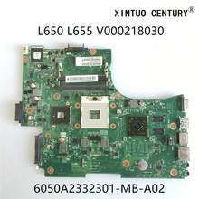 V000218030 6050a2332301-mb-a02 para toshiba satélite l650 l655 computador portátil placa-mãe hm55 ddr3 w/hd4500 gpu 100% testado trabalho
