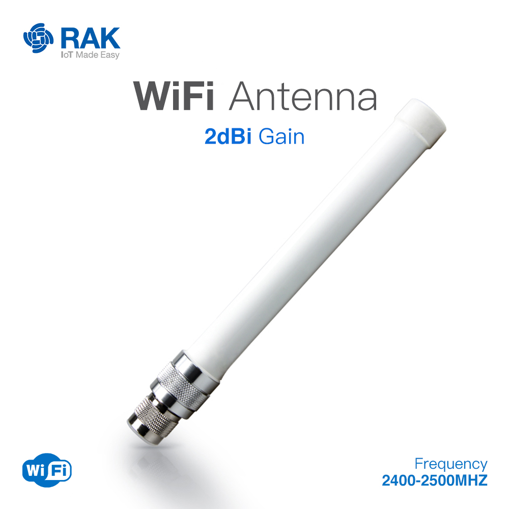 2dBi Gain Fiber Glass WiFi Antenna N-Type Male Connector Cable Frequency:2400-2500MHZ