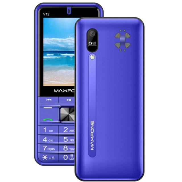 "Maxfone V12 Push Button Mobile Phone 2.8"" Quad Sim Keyboard Bluetooth Flashlight MP3 Radio Camera BigHorn 4SIM Cheap Telephone"
