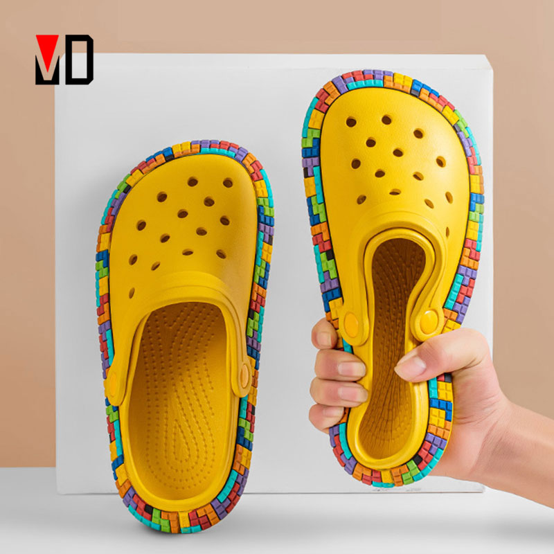 Mo Dou 2021 New Spring/Summer Slippers Parents Children Kids Shoes Waterproof Qualy EVA Smelless Crocs Charms Beach Women Men|Slippers| - AliExpress