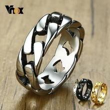 Мужское кольцо цепочка из нержавеющей стали с фиксированным