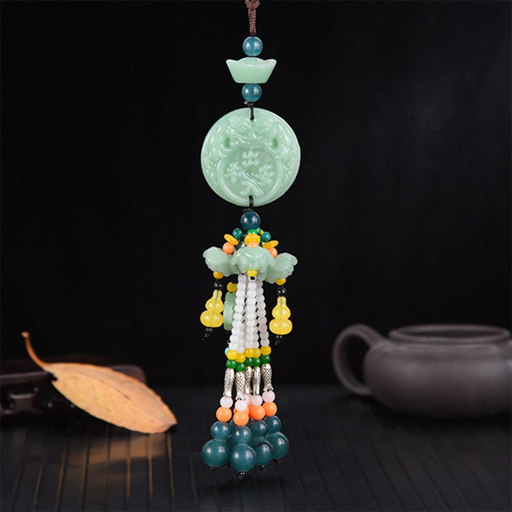 Image 2 - Car Pendant Jade Gourd Auto Hanging Ornaments Originality Blessing Decoration Rearview Mirror Car Interior Accessories-in Ornaments from Automobiles & Motorcycles