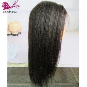 Image 3 - EAYON אור איטלקי יקי משי למעלה Glueless מלא תחרת פאות 5x4.5 יקי ישר פאות ברזילאי רמי שיער טבעי עם תינוק שיער