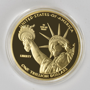 1 Trillion Dollar Gold Coins Collectibles Silver Plated US Collection Metal Coin(China)