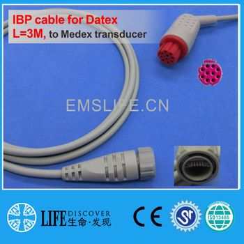 GE datex IBP cable for Medex disposable pressure transducer image
