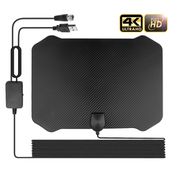 60-130 Miles Long Range Digital TV Antenna Amplifier Signal Booster DVB-T2 HDTV Antenna 4K 1080p Freeview for Local Channels