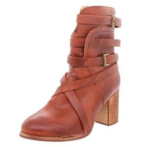 SAGACE Retro Ladies Boots Women Square Heels Ziper Casual Shoes Women Rome Boots winter boots women waterproof Shoes female 2019(China)