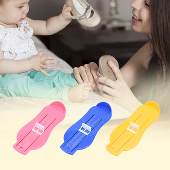 Hot! 1PC Baby Foot Ruler Kids Foot Length Measuring Device Child Shoes Calculator for Infant Shoes Fittings Gauge Tools image