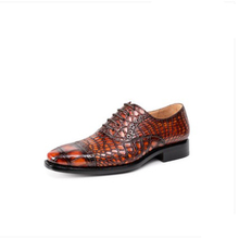 ouluoer Crocodile leather mens shoes fashion brock carved marriage Shoes Goodyear formal