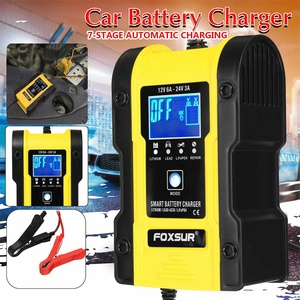 24V/12V LCD Car Jump Starter Power Bank Charger 7-STAGE Automatic Charging Portable Emergency Starter Booster Starting Device