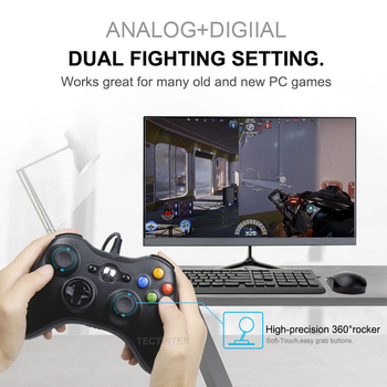 USB Wired Vibration Gamepad Joystick For PC Controller For Windows 7 / 8 / 10 Not for Xbox 360 Joypad with high quality 3