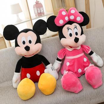 цена на 2019 Hot Sale 40-100cm High Quality Stuffed Mickey&Minnie Mouse Plush Toy Dolls Birthday Wedding Gifts For Kids Baby Children
