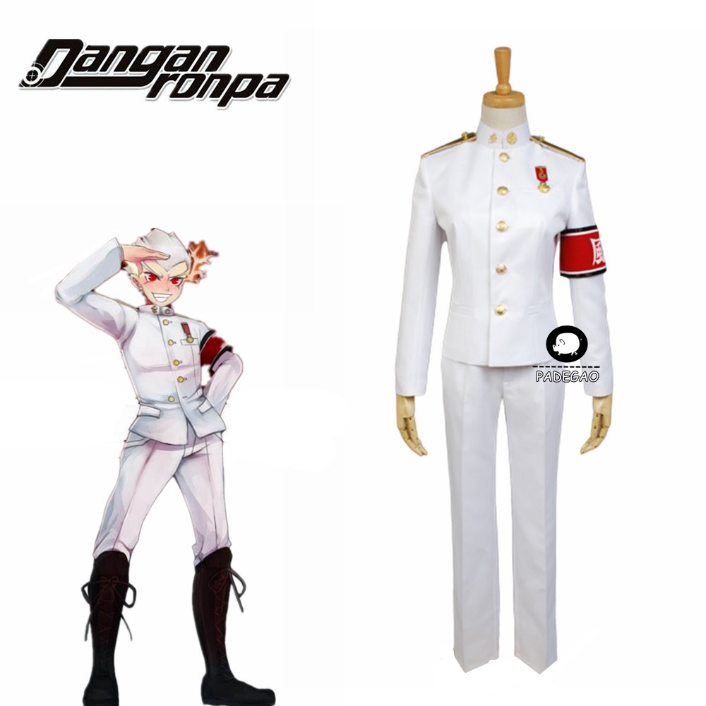 DanganRonpa Ishimaru Kiyotaka Cosplay Costume White Uniform Full Set Men Women Party Costume Free Shipping
