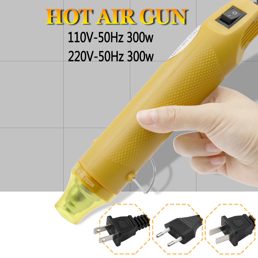 110V 220V Hot Air Gun Heater DIY Crafting Power Tool Phone Repair Air Heater Hair Dryer Handheld Hot Air Blower US/EU/UK Plug