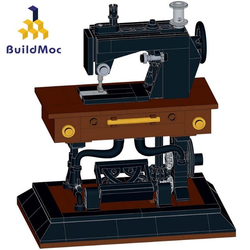 Классическая серия швейная машина творческий набор строительных блоков MOC-41609 для девочек кремово-Сборка игрушки 244 шт
