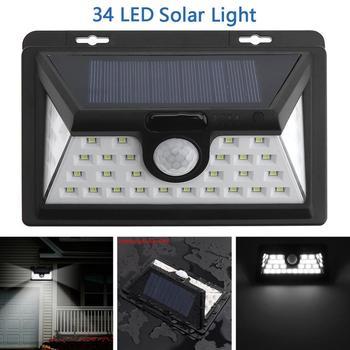 цена на Outdoor 34 LED 2835 SMD White Solar Power PIR Motion Sensor Wall Light  with 3 Different Lighting Modes for Garden / Pathway
