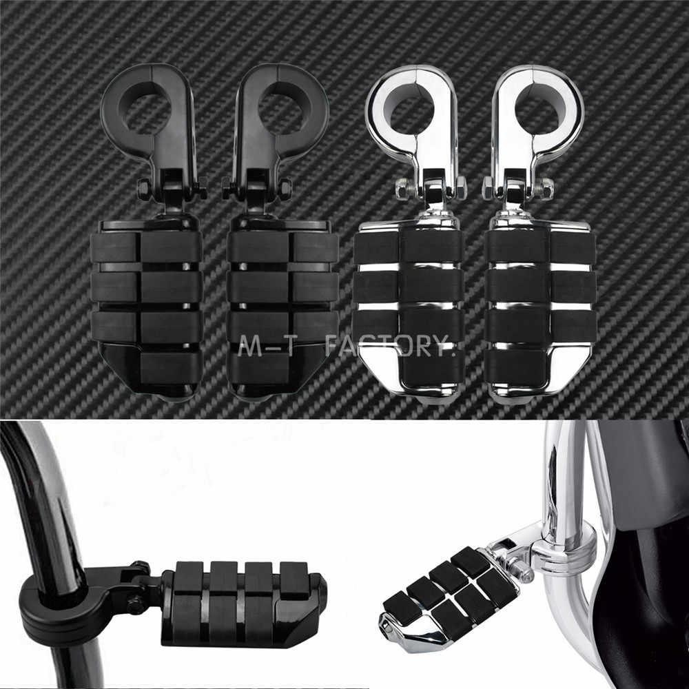 """Universal estrada pegs footpeg & montagem da motocicleta 1.25 """"32mm barra de estrada pé pegs apoio para os pés harley sportster softail xl dyna"""