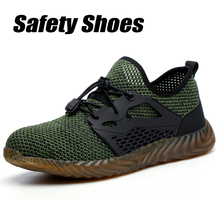 Safety Shoes Men and Women Outdoors Steel Toe Anti Smashing Anti-slip Puncture Proof Shoes Large Comfortable Breathable Sneakers