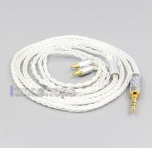 LN006547 3.5mm 2.5mm 4.4mm XLR 8 çekirdekli gümüş kaplama OCC kulaklık kablosu Sennheiser IE40 Pro
