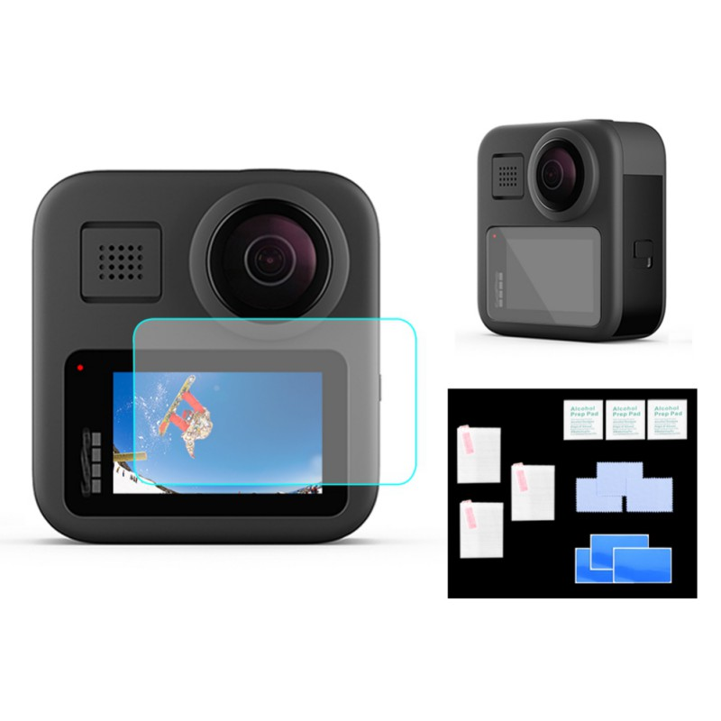 New Tempered Glass Film LCD HD Screen Protector Housing Lens Protector For GoPro Max Black Action Camera Accessories