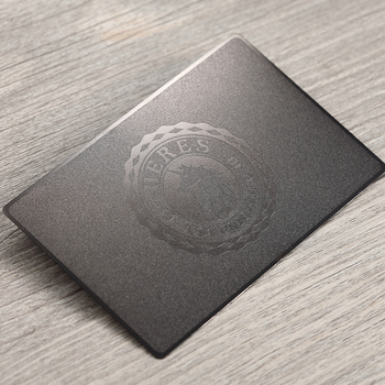 Stainless steel business card frosted metal card black metal business card custom stainless steel card custom
