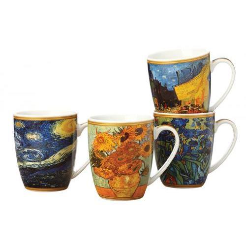Set mugs CASA DOMANI, Van Gogh, 4 subject set mugs casa domani van gogh 4 subject