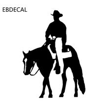 Cowboy Grappige Sticker Decal Reflecterende Laser Motorfiets Auto Styling Vinyl Stickers EBDECAL CT30237(China)