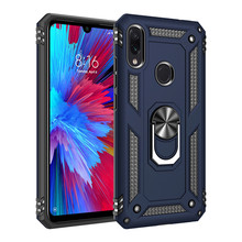 Luxury Case For Xiaomi Redmi Note 7 Pro Silicone Armor Bumper Shockproof Phone 9 SE With Finger Ring