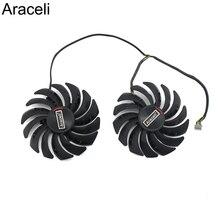 2 יח\חבילה PLD10010S12HH RX5700 RX5600 Cooler מאוורר עבור MSI Radeon RX 5600 5700 XT משחקי וידאו כרטיס קירור מאוורר
