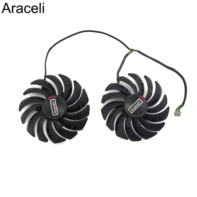 2PCS/lot PLD10010S12HH RX5700 RX5600 Cooler Fan for MSI  Radeon RX 5600 5700 XT GAMING Video Card Cooling Fan