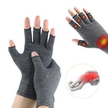 1 пара перчатки при артрите премиум-класса артритные суставы облегчение боли перчатки для рук терапия перчатки с открытыми пальцами
