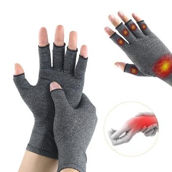 1 para rękawice artretyzm Premium artretic ból stawów rękawiczki ulga terapia otwarte rękawiczki z palcami tanie i dobre opinie Sfit Dla osób dorosłych CN (pochodzenie) Cotton + Spandex Therapy Gloves Men Women