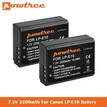 7 2V 2200mAh LP-E10 Batteries for Canon EOS Rebel T3 T5 T6 T7 Kiss X50 Kiss X70 EOS 1100D 1200D1300D 2000D Digital Camera cheap powtree CN(Origin) Standard Battery 7 day return one-year warranty EOS 1100D EOS 1200D EOS 1200D EOS 2000D Rechargeable Li-ion battery