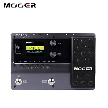 MOOER GE150 cyfrowy w kształcie tuby AMP modelowanie gitara pedał efektów procesor 55 AMP modele 9 typów efektów nagrywania w pętlę (80 S) tanie i dobre opinie Ue wtyczka Efekty DC 9V AC adapter (center minus plug)(not included)