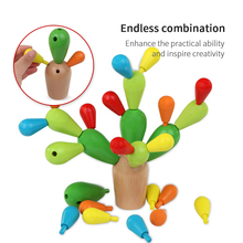 Wooden Cactus Building Toy Set 29PCS Building Blocks Playset for Kids Girl Boy Educational Toys DIY Creative Wooden toy for Kids 3d construction sets for kids toy drill play creative educational games mosaic design building toys tool set for boy 3 years toy
