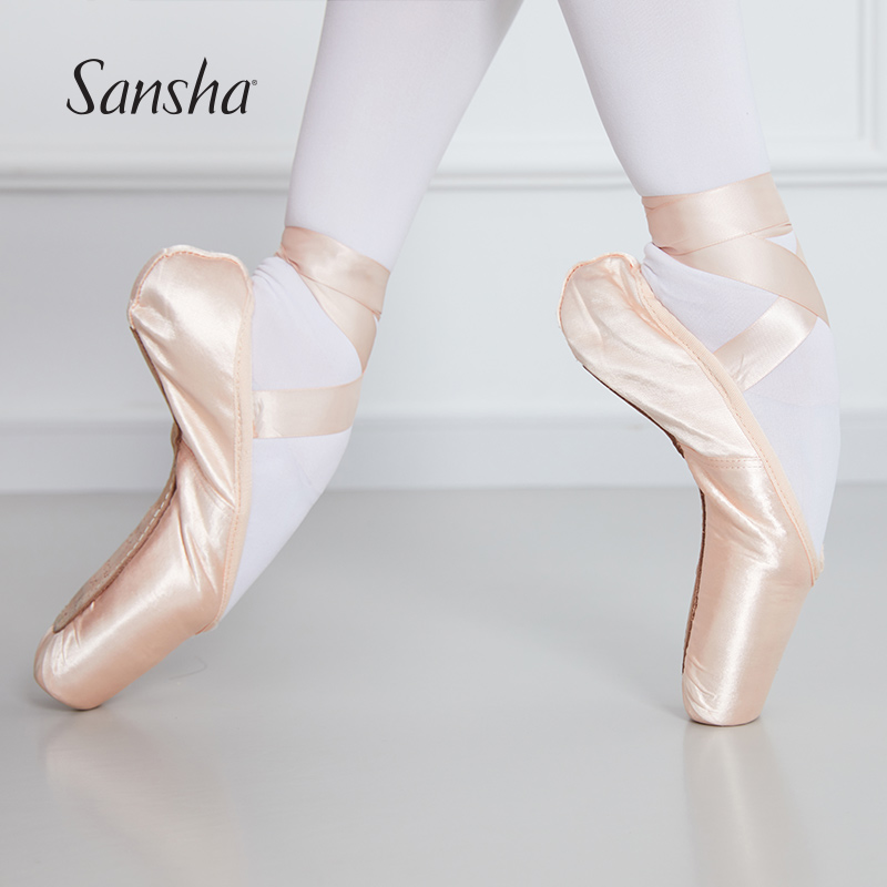 Sansha  F.R.D Series Classic Ballet Pointe Shoes With Extra Strong Hytrel® Technology Shank Women Girls Dance Shoes F.R.DUVAL1.0