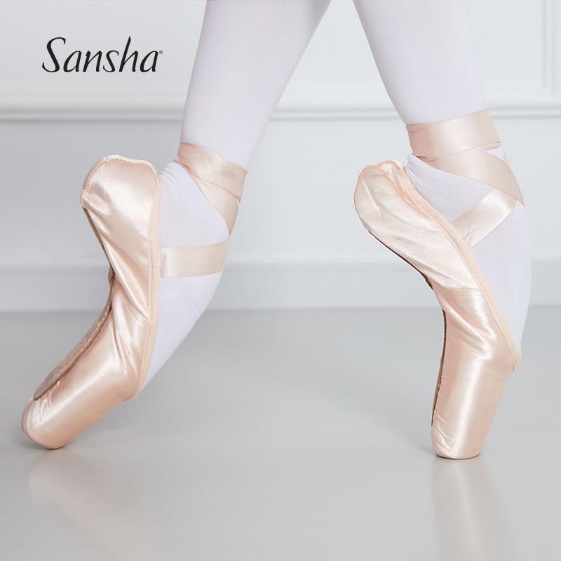 Sansha/Классические балетки серии F.R.D; Очень прочные туфли Hytrel®Женская танцевальная обувь для девочек с технологическим хвостовиком F.R.DUVAL1.0