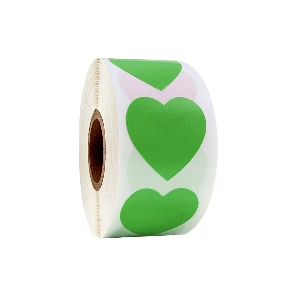 Купить с кэшбэком Colorful Heart Shaped Stickers Seal Lables 500 Pcs/roll Love Stickers for Wedding Decoration Scrapbooking Stationery Stickers
