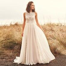 Boho Свадебное платье 2020 кружевное из шифона в богемном стиле